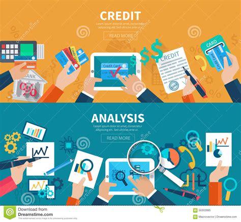 Credit Analysis Template credit analysis banner set stock vector image 56302885