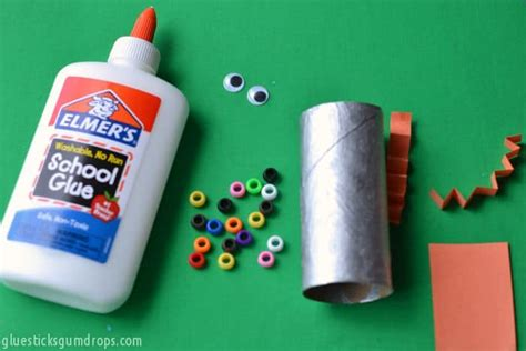 Paper Craft Materials - easy robot toilet paper roll craft
