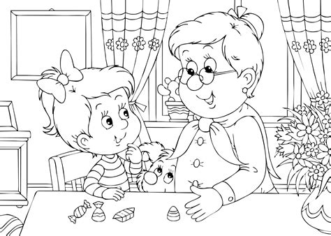 mothers day coloring pages grandma free large images