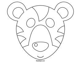 printable tiger mask template 1000 ideas about tiger mask on pinterest mascara
