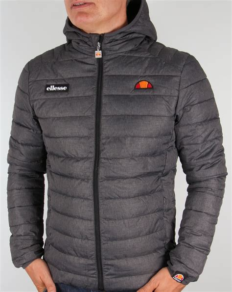 ellesse lombardy jacket grey padded puffer ski