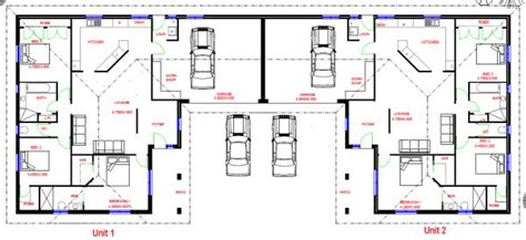 dual living floor plans duplex design australian dual living