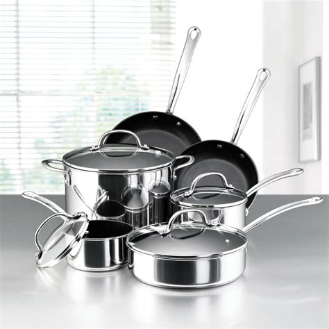 what cookware for induction cooktop induction range cooktop non stick 10pc stainless steel