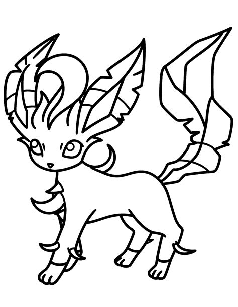 pokemon coloring pages of leafeon pokemon diamond pearl coloring pages picgifs com