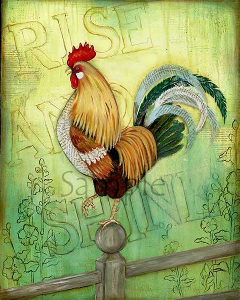 rooster wall decor rise shine rooster 11x14 kitchen wall rooster decor