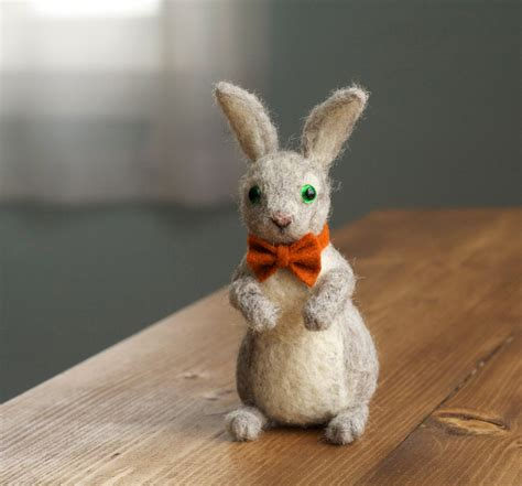 Handmade Rabbit - 17 handmade needle felted easter decorations