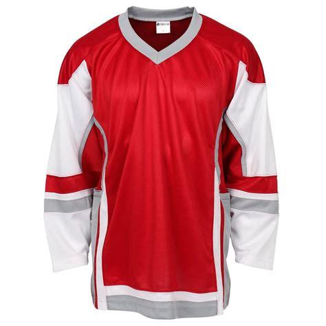 Redwhite The Jersey Grey hockeymonkey stadium hockey jersey white gray