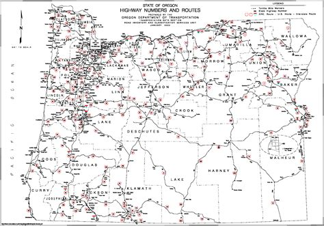 map  oregon  counties  cities  travel