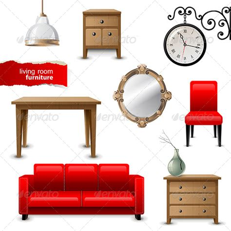 objects in the living room living room furniture graphicriver