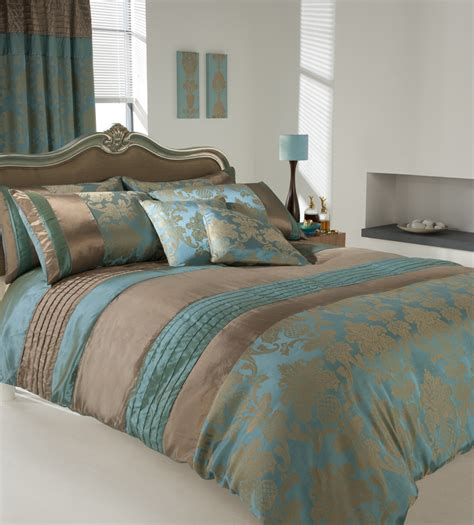 teal and gold bedding luxury printed duvet cover pillow cases set teal uk ebay