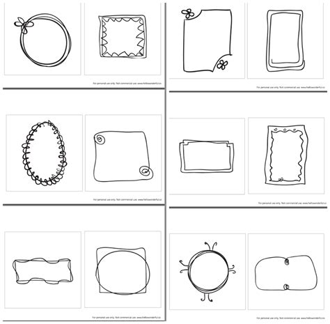 template of hello the free printable childrens printables hello