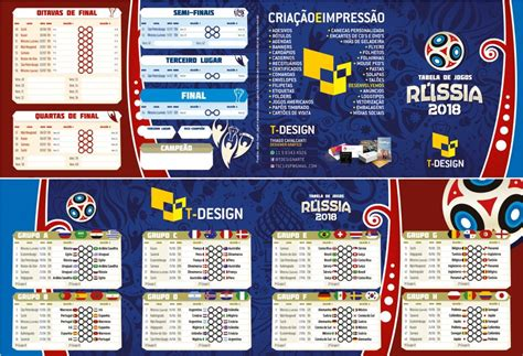 tabela da copa tabela copa 2018 r 250 ssia em corel ou ilustrator brinde