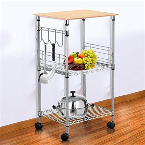 black kitchen microwave storage rolling cart on wheels w topeakmart chrome steel wire rolling kitchen cart utility