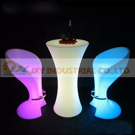 le de table led rechargeable led illuminated cocktail table bar lounge led waterproof led table lighted up coffee table