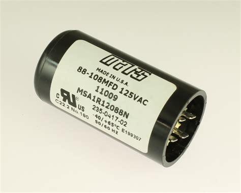 applications of capacitor start motor msa1r12088n mars capacitor 88uf 125v application motor start 2020063446
