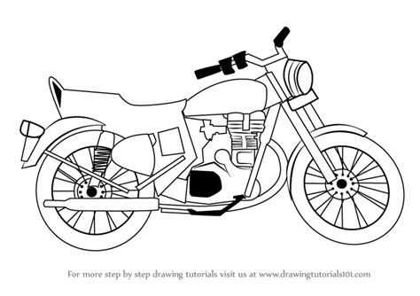 illustrator tutorial motorcycle vector cartoon motorbike drawingsby mechanik654941