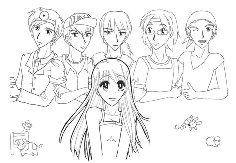 harvest moon coloring page coloring page harvest moon 4