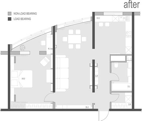 layout apartment 2 single bedroom apartment designs 75 square meters
