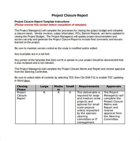 covering letter for project report 9 sle project closure report template exles sle