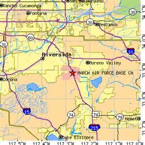 air bases california map march air base california ca population data