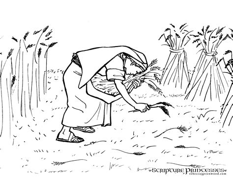 free bible coloring pages ruth free coloring pages of ruth gleaning