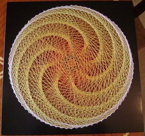 Nail And String Patterns - 17 best images about hilos y madera on thread