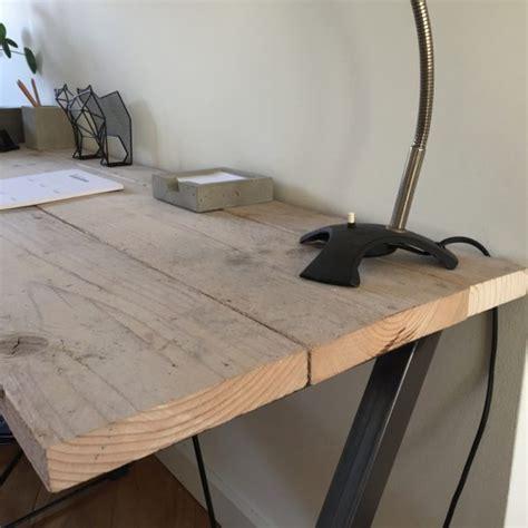 buro steigerhout bureau steigerhout en onbehandeld metaal z poten 140
