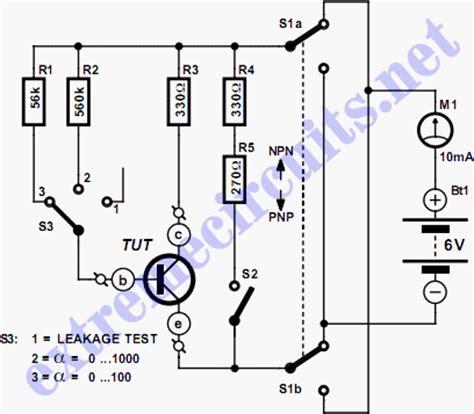 transistor tester circuit transistor tester circuit diagram
