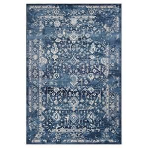 blue accent rug kas rugs bob mackie vintage azure blue marrakesh 7 ft 10