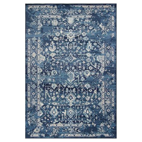 Blue Accent Rug by Kas Rugs Bob Mackie Vintage Azure Blue Marrakesh 7 Ft 10