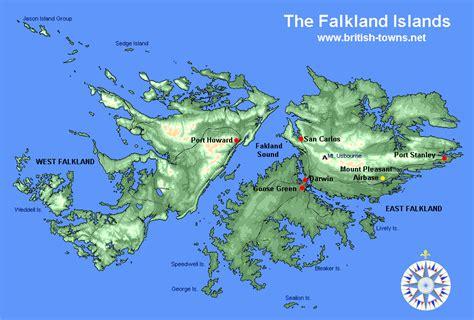 falkland islands on map falkland islands