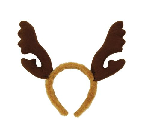 reindeer antlers with brown fur headband christmas