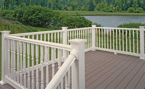 Lowes Banister by Vinyl Porch Railing Lowes Ideas Home Interior Exterior
