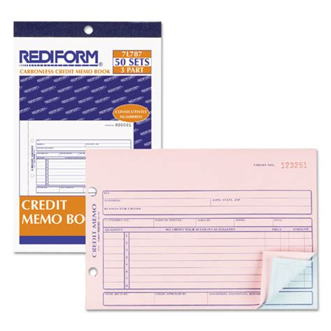 chandiler receipt template credit memo book 5 1 2 x 7 7 8 carbonless triplicate 50