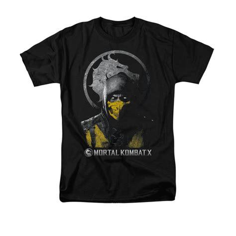 T Shirt Mortal Kombat Anime mortal kombat x scorpion bust t shirt