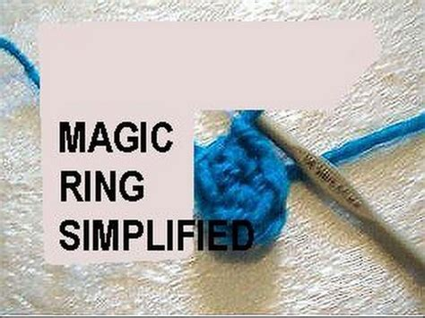 magic circle knitting crochet magic ring simplified crochet technique how to