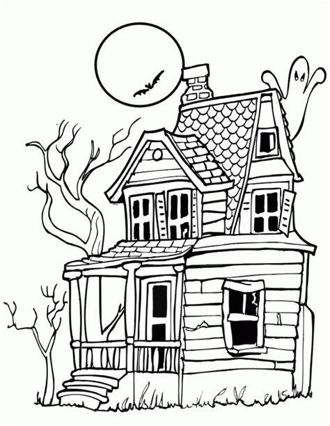 decorated house coloring pages dibujo de casa encantada para colorear dibujos infantiles