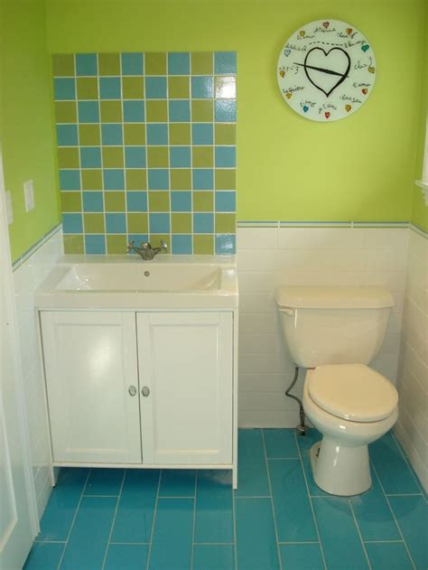 blue and green bathroom ideas 17 best ideas about lime green bathrooms on