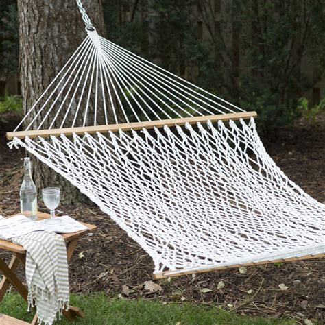 island bay xl thick rope hammock with free hanging