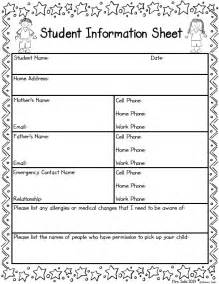 Free Printable Report Card Template best 25 student information form ideas on pinterest