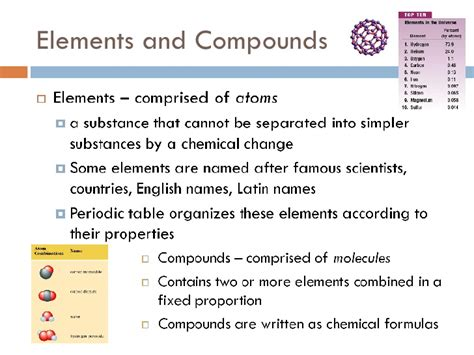 element matter lecture 2 matter elements and compounds states of