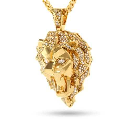 gold faceted fox quot empire quot x king the cz faceted gold kingice