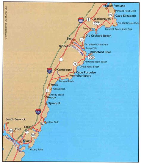 map of maine coast map of maine coast map3
