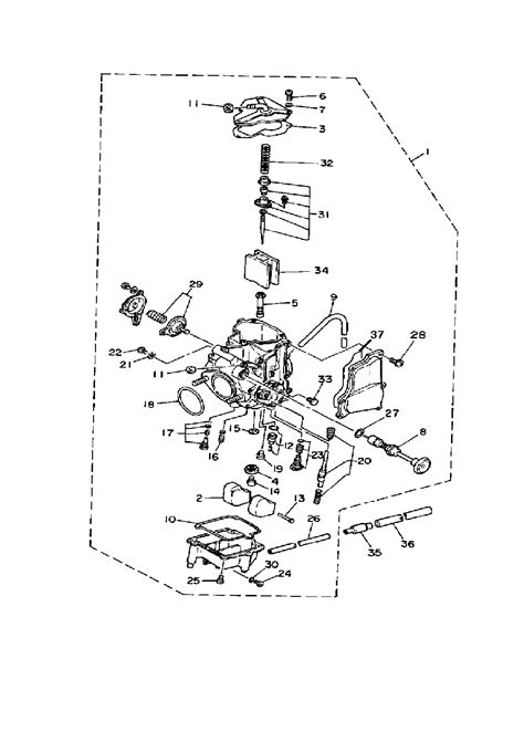 yamaha warrior 350 carburetor diagram 37 wiring diagram