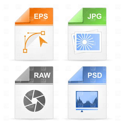 format eps et ai filetype icons psd raw jpg eps royalty free vector