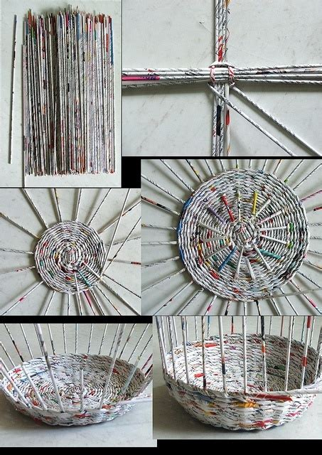 How To Make A Woven Basket Out Of Paper - newspaper baskets craft ideas