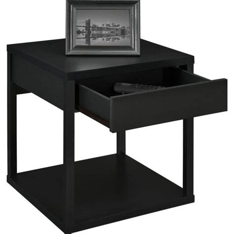 Black End Tables Square End Table In Black 5185096w