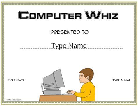 computer certificate templates certificate free award certificate templates no