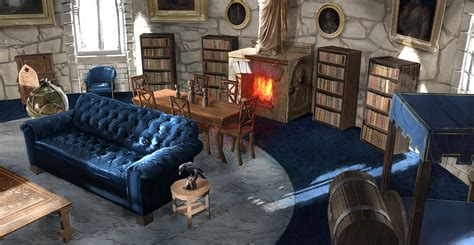 Living Room With Fireplace by Ravenclaw Common Room The Harry Potter Lexicon