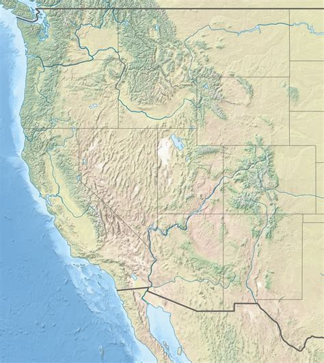 map of the west usa file usa region west landcover location map jpg